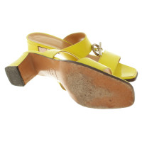 Hermès Sandals in neon yellow