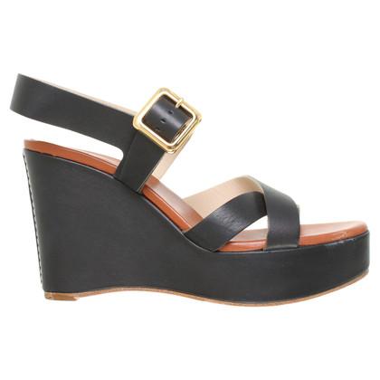 Chloé Lederen sandalen in zwart