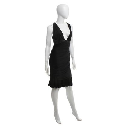 Roberto Cavalli robe de soirée noire avec fronces