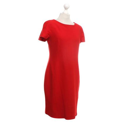 Piu & Piu Wollen jurk in rood