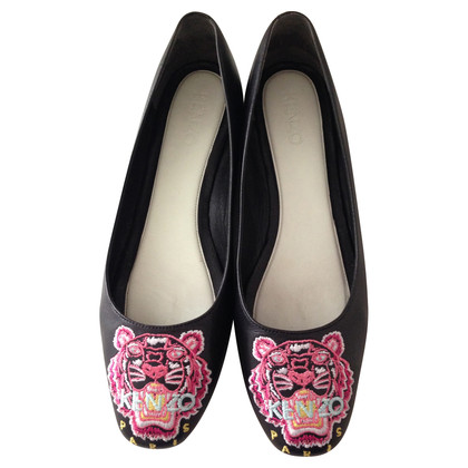 Kenzo Ballerinas with tiger head motif