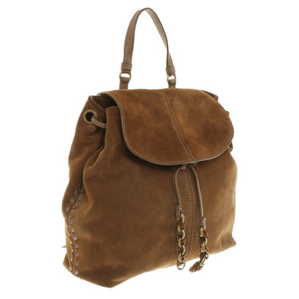 Maje Suede backpack in Brown