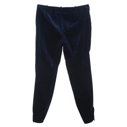 Ralph Lauren Fluwelen broek in donkerblauw