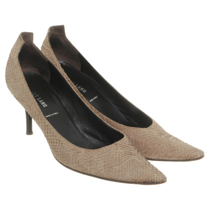 Helmut Lang Pumps in reptile finish
