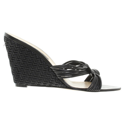 Pollini Wedge Sandals in zwart