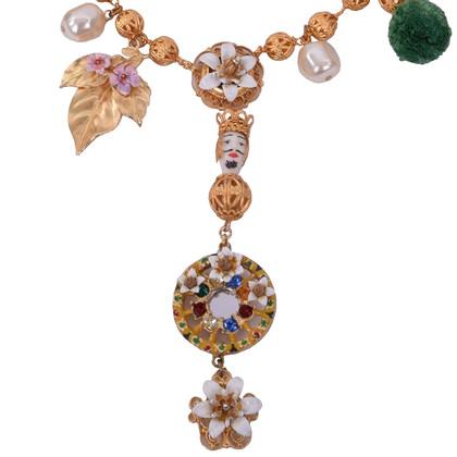 Dolce & Gabbana Sicilia Collier con cristalli