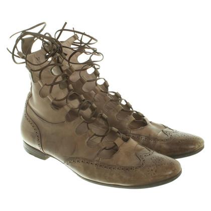 Santoni Leather ankle boots