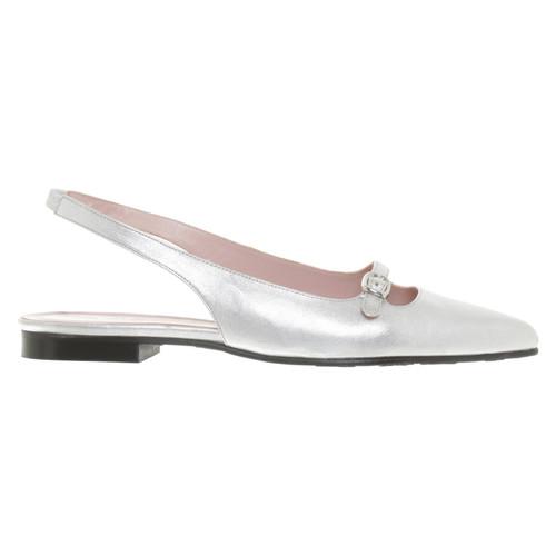 huge discount 7ef53 d48ef Pretty Ballerinas Silberfarbene Ballerinas - Second Hand ...