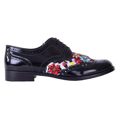 Dolce & Gabbana Lace-up shoes with embroidery