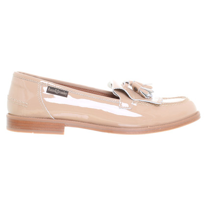 Russell & Bromley Patent leather slipper in beige