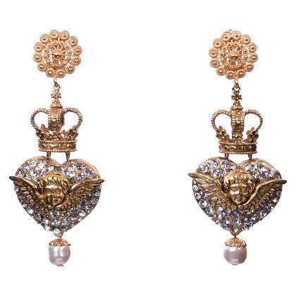 Dolce & Gabbana Clip oorbellen met engel en het hart