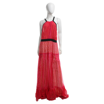 Roberto Cavalli Abendkleid in Rot/Orange/Pink