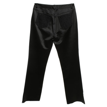 John Galliano Shimmering trousers in black