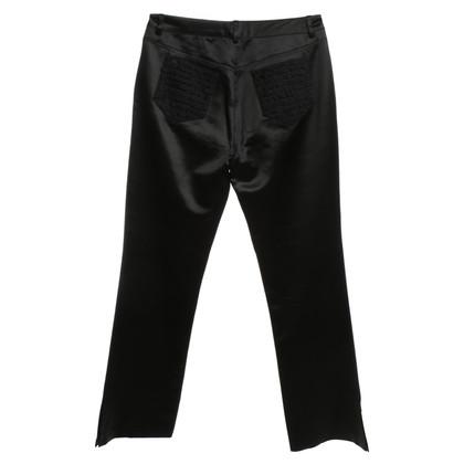 John Galliano Shimmering broek in zwart
