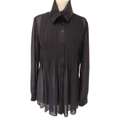 Strenesse Semi-transparent silk blouse