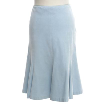 Ralph Lauren Black Label Corduroy rok in lichtblauw