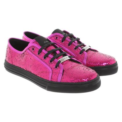 Gucci Scarpe stringate in rosa