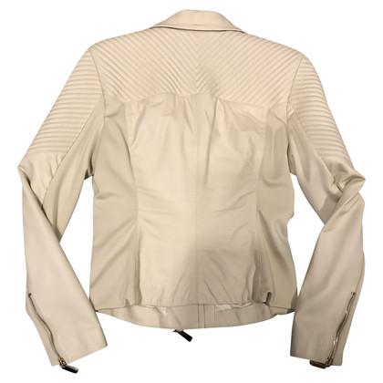 Elisabetta Franchi Leather jacket with inserts