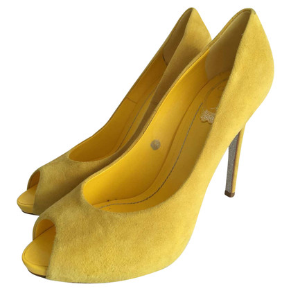 René Caovilla Peeptoes in yellow