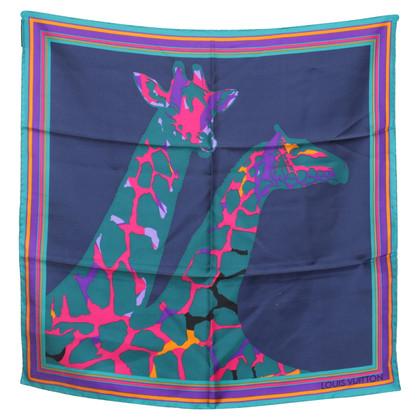 Louis Vuitton Sciarpa di seta con motivo