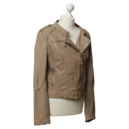 Oakwood Lederjacke in Beige