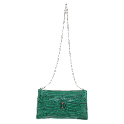 Laurèl Green clutch leather