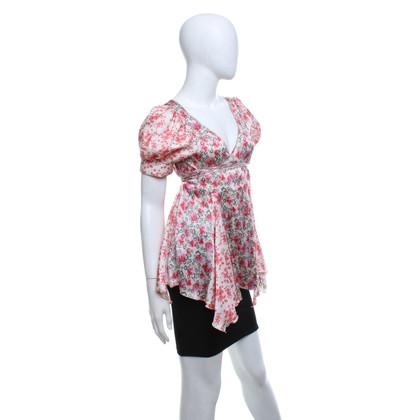 Strenesse Zijden blouse met bloemenprint