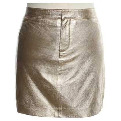 Antik Batik Gold colored mini skirt