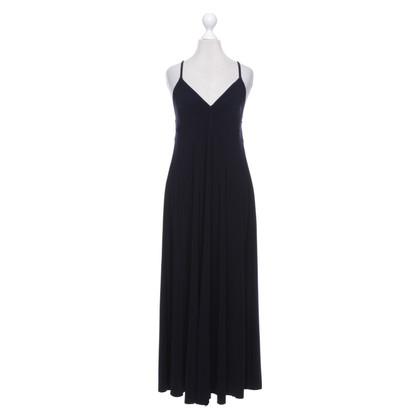 Norma Kamali Maxi vestito in blu scuro