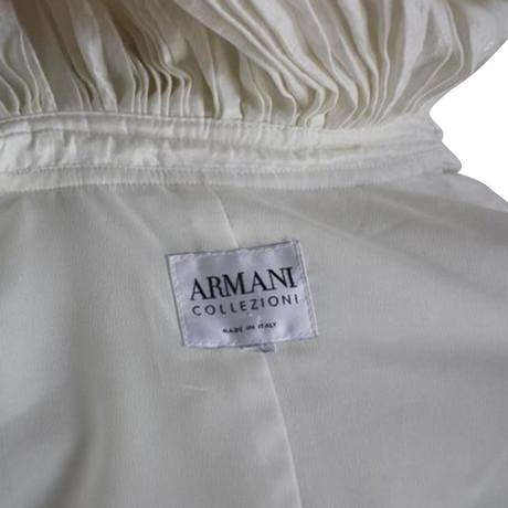 Jacke Jacke Jacke gro脽em mit gro脽em Wei Kragen Wei mit Armani mit Armani Armani Kragen qU54zxB4dw