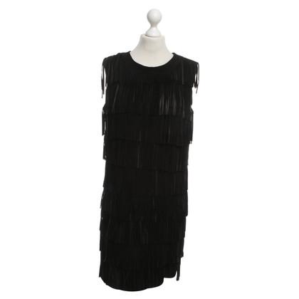 Twin-Set Simona Barbieri Suede jurk met franje