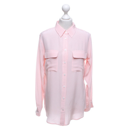 Equipment Blouse in white / coral red