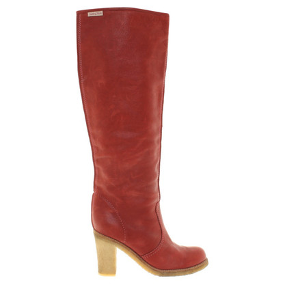 See by Chloé Bottes en rouge