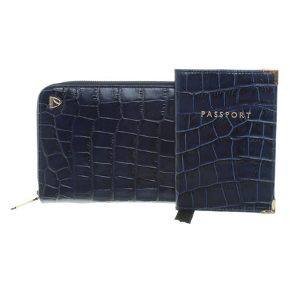 Aspinal of London Wallet in blauw
