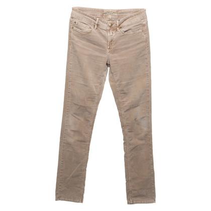 Closed Pantaloni di velluto a coste in beige