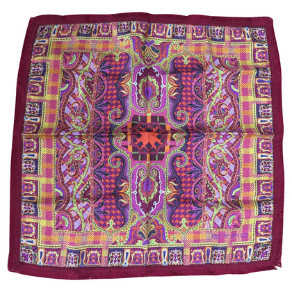 Etro Small silk cloth with fringes