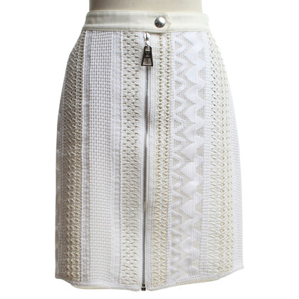 Louis Vuitton skirt in cream with crochet pattern