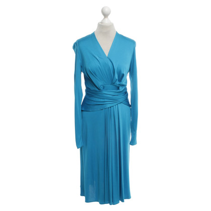 Issa Silk dress in turquoise