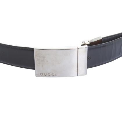 Gucci Cintura in cuoio nero