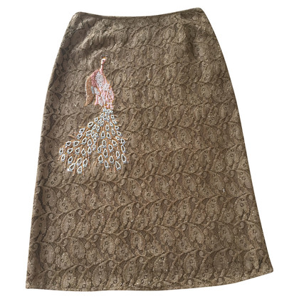 Paul & Joe Lace embroidered skirt