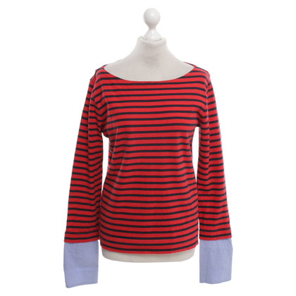 J. Crew top in blue / red