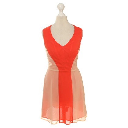 Reiss Dress in Orange/nude
