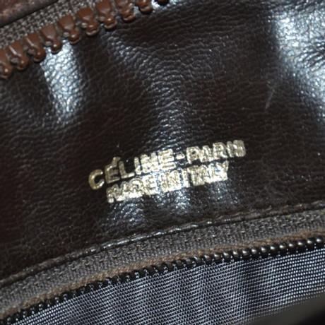 Céline Umhängetasche aus Leder Braun Günstig Kaufen Rabatte XoBh7p