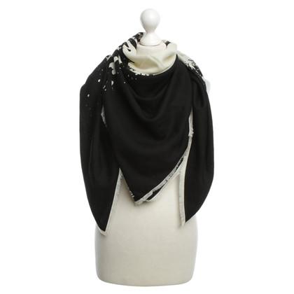 Karl Lagerfeld Tuch in Schwarz/Weiß