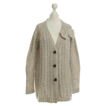 Twin-Set Simona Barbieri Beigefarbene Strickjacke
