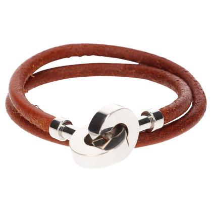 Hermès Wickelarmband mit silberfarbener Schließe