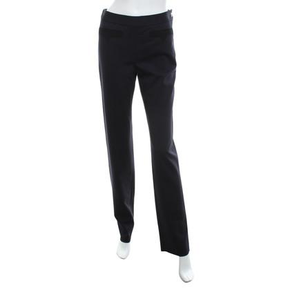 Chanel Uniform Pantalon en bleu / noir