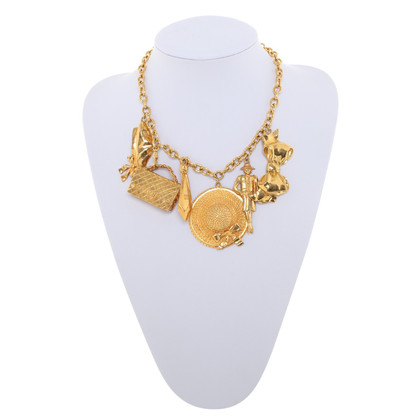 Chanel Gold colored Necklace with trailers