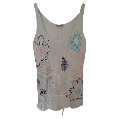 Giorgio Armani Silk top with flowers