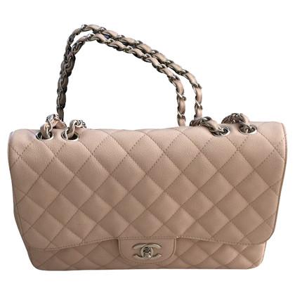 "Chanel ""Jumbo Flap Bag"" in Nude"